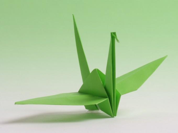 Как сделать бумажного журавля