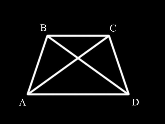 Как доказать, что диагонали в трапеции равны