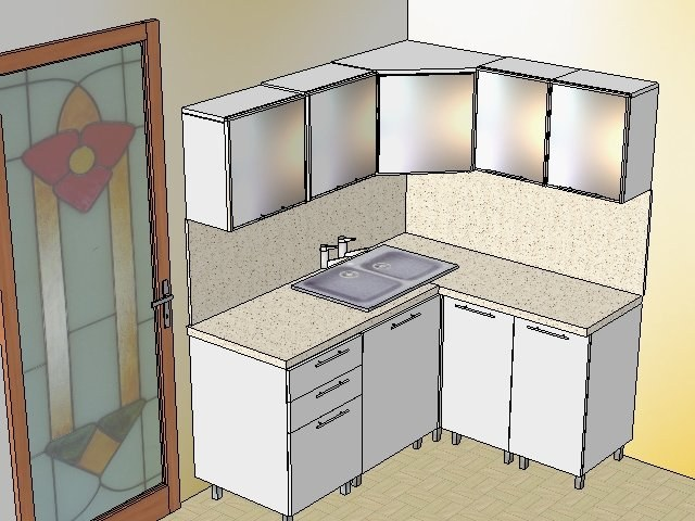 How to draw a sketch of the kitchen