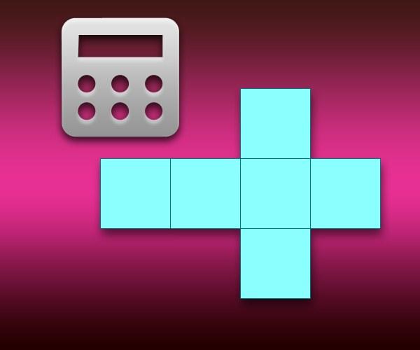 Как рассчитать площадь куба