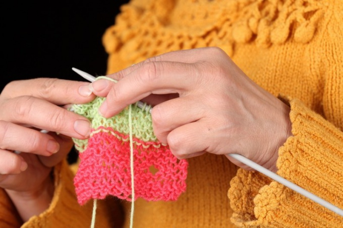 How to knit border