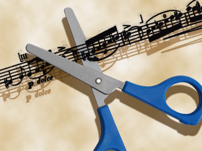 How to cut out a piece of music