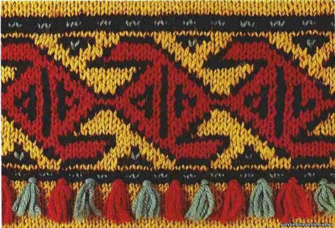 Вязание цветной рисунок