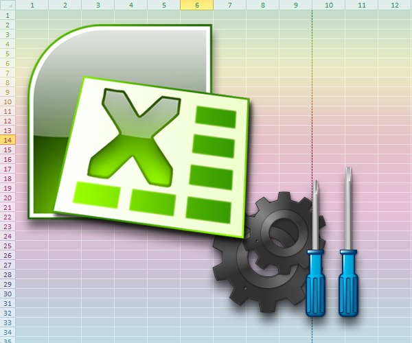 How to change the settings in Excel