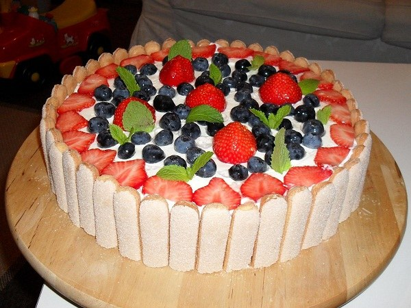 бисквитный торт как украсить фото