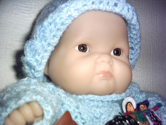 How to knit a hat for a doll