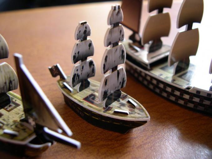 Как сделать модель яхты