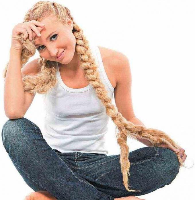 Как закрепить косу