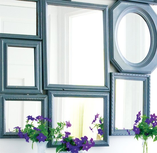 Как украсить старое зеркало