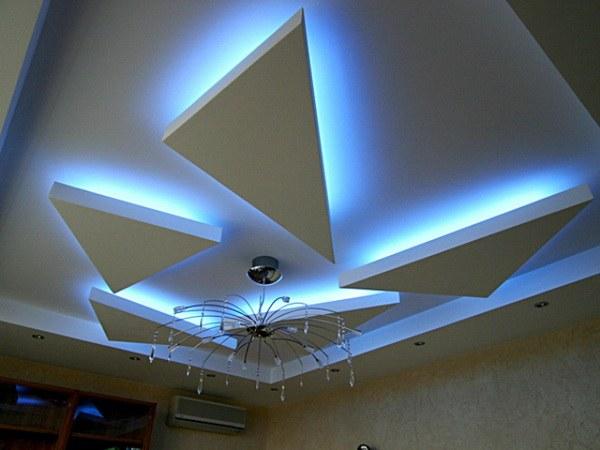Как установить гипсокартонные потолки
