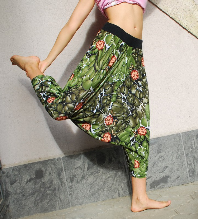 How to sew wide leg pants