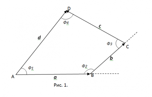 Как найти углы четырёхугольника