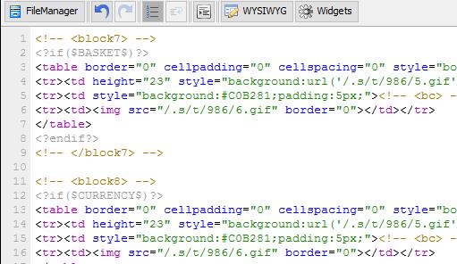 Html код дизайна сайта