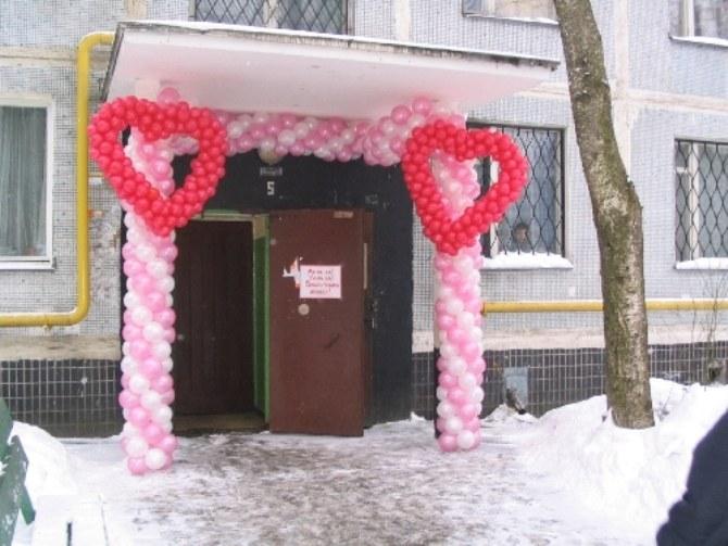 Как украсить подъезд невесты