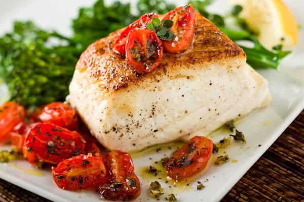 How to bake halibut