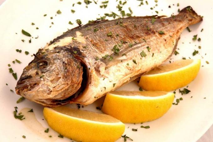 How to bake whitefish