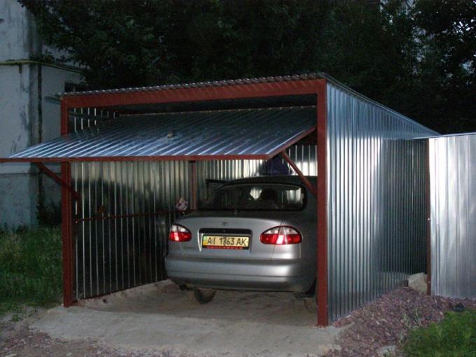 Как сделать металлический гараж