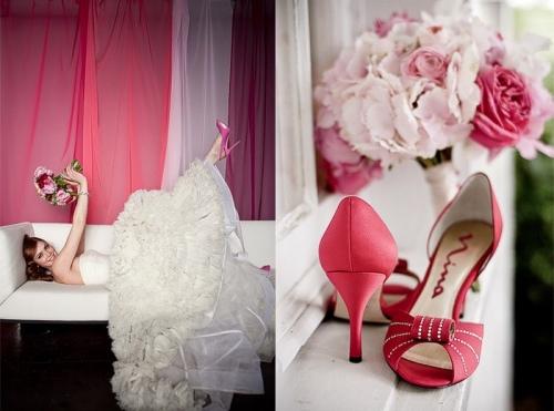 Удобные свадебные туфли нежного оттенка