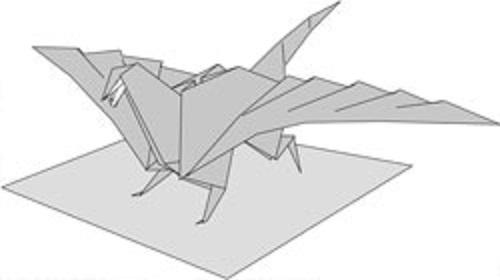 Бумажный дракон-оригами не так уж свиреп и беспощаден.