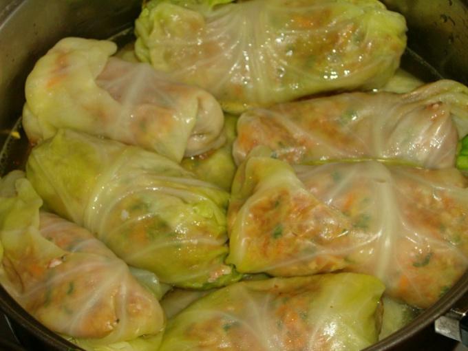 Голубцы из полуфабрикатов рецепт пошагово с фото