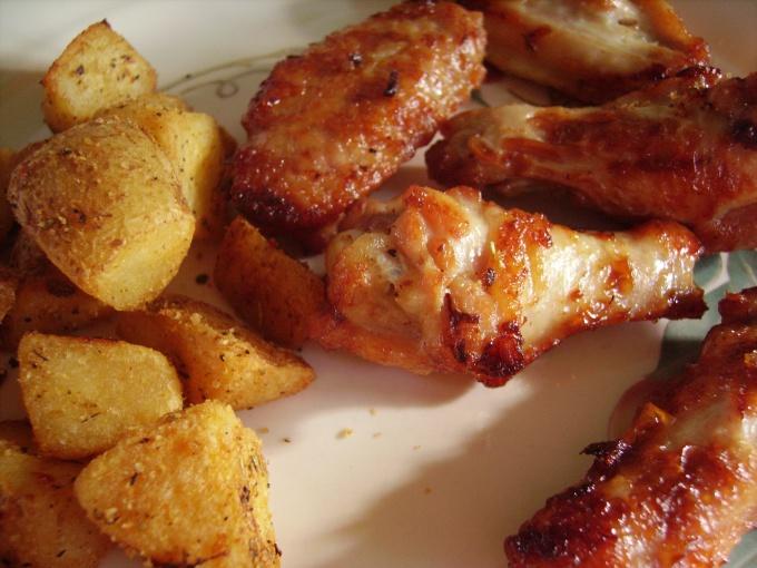 Золотистая корочка курицы разжигает аппетит