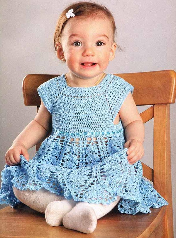 Фото платье для девочки 1 год спицами
