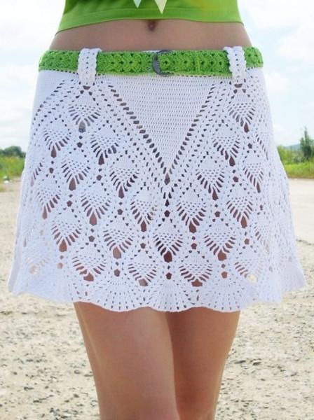 Расклешенная юбка из лицевых и изнаночных клиньев