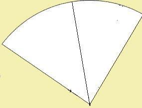 Нос делается из четверти круга, разделенной пополам