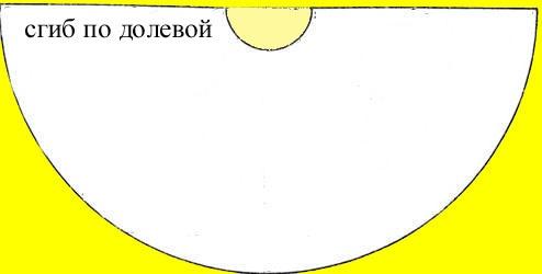 Выкройка представляет собой полукольцо
