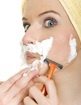 Do not overdo it with a razor. Otherwise, you can turn into a circus bearded woman