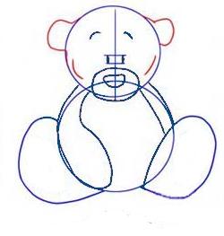 How to draw a Teddy bear