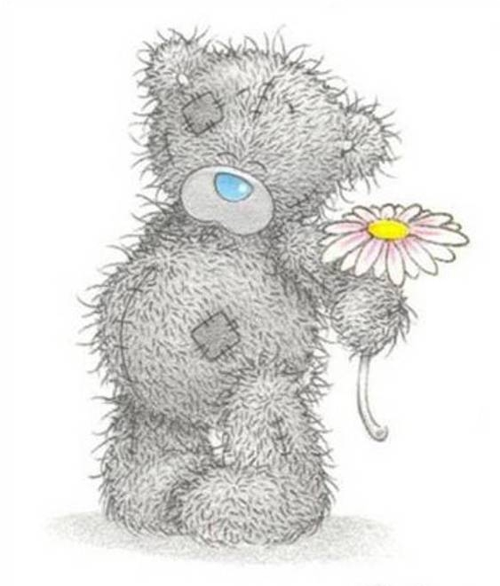 Teddy bear cute gray creature with a blue nose