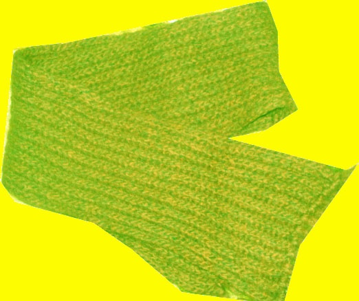 Шарф, связанный английской резинкой