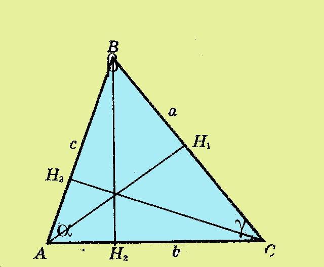 Как найти <strong>высоты</strong> <b>треугольника</b>