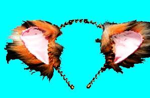 Кошачьи ушки на тесьме или ободке