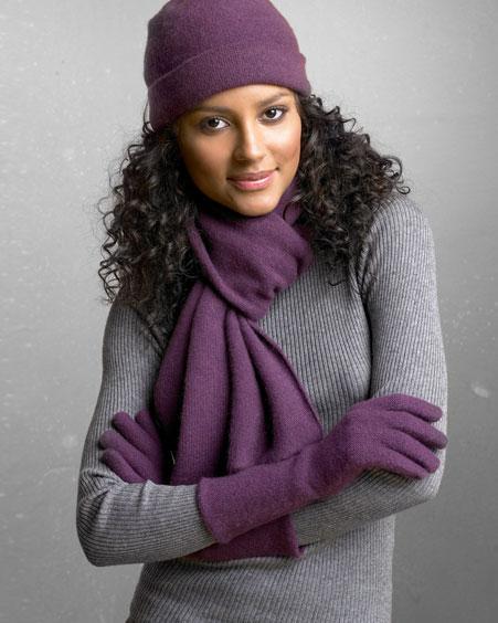 Европейский тип вязки шарфа подходит людям любого возраста.