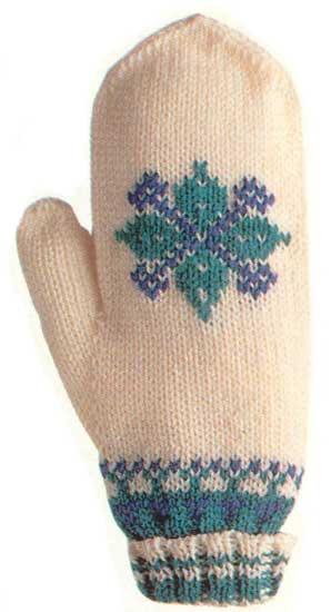 Как связать рукавицы