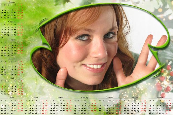 Как сделать календарь на фотографии