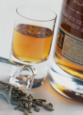 Цвет виски - от светло-желтого до коричневого.