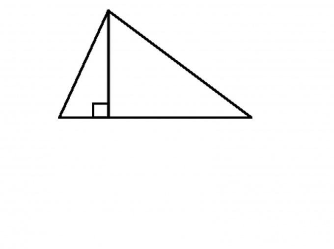 Как построить высоту треугольника