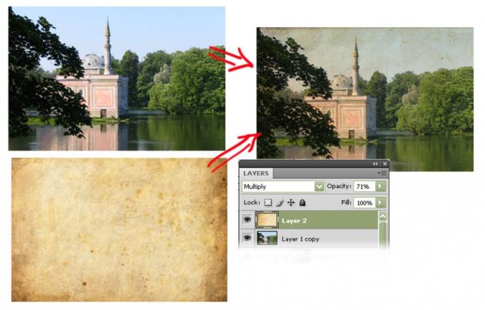 Как состарить фотографию в фотошопе