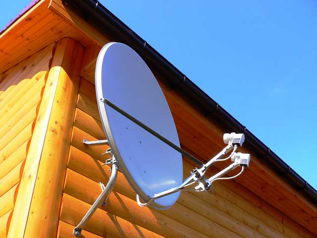 How to connect a satellite dish