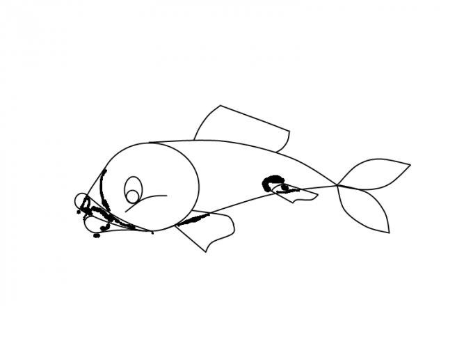 Как нарисовать <strong>рыбу</strong>