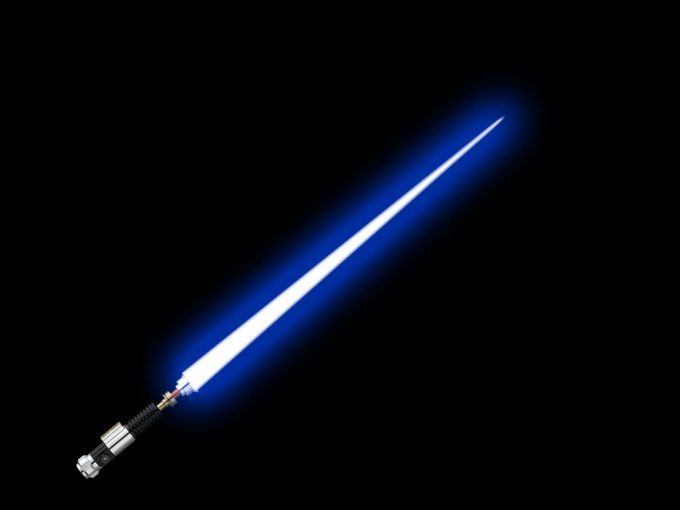Everyone in the soul a little Jedi. The lightsaber will help us to understand how