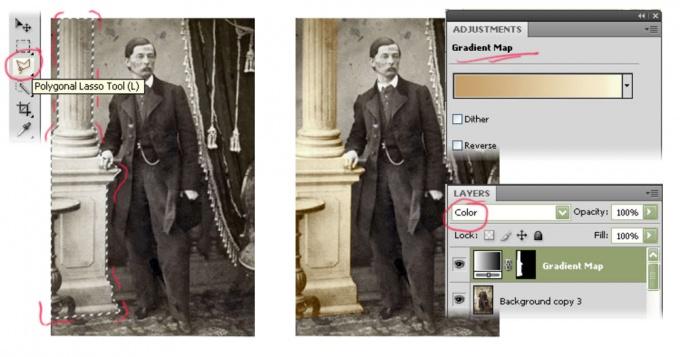 Как сделать цветную фотографию из черно-белой