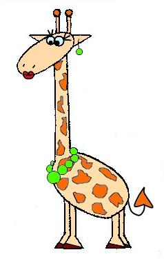 Как нарисовать жирафу