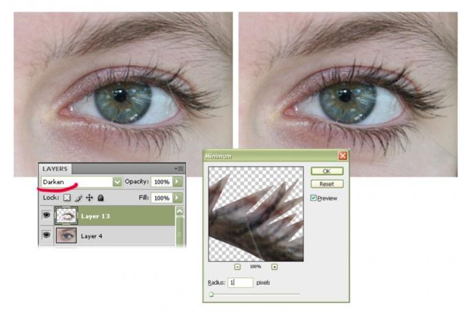 Как сделать ресницы в фотошопе