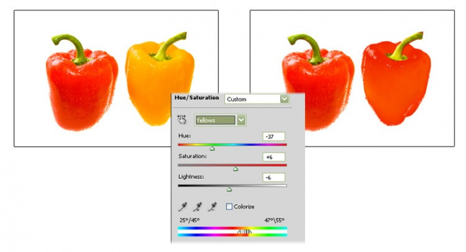 How to change the color in photoshop
