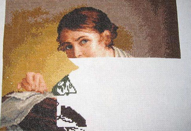 Как вышивать по схеме