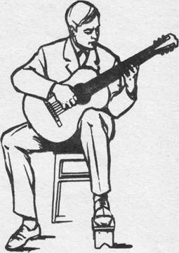 посадка гитариста